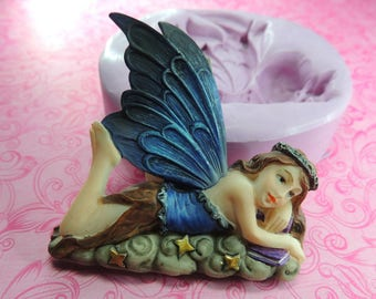 Fairy Girl Mold, Silicone Mold, Fairy Silicone Molds, Chocolate, Fondant, Soap, Polymer Clay, Wax Fairy Mold, Moulds