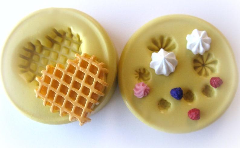 Miniature waffle mold kawaii diy jewelry mold tiny frosting image 0