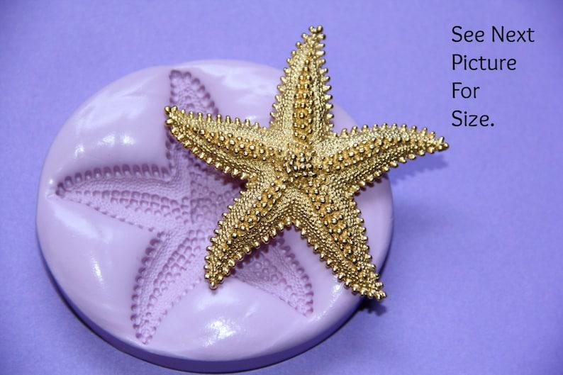 Silicone Starfish Mold Fondant Sugar Butter Marzipan Flexible image 0