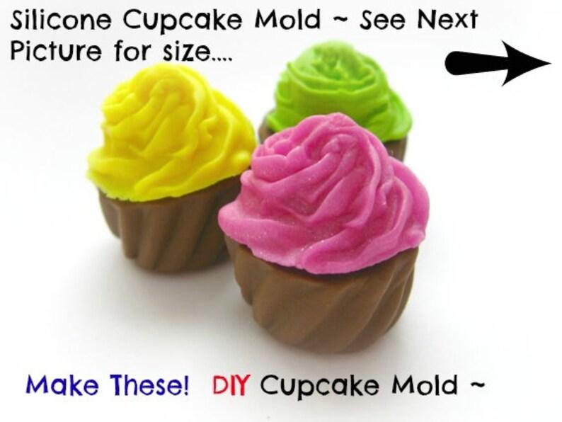 Silicone Mold Cupcake Cabochon Mold Charm Kawaii Silicone Mold image 0