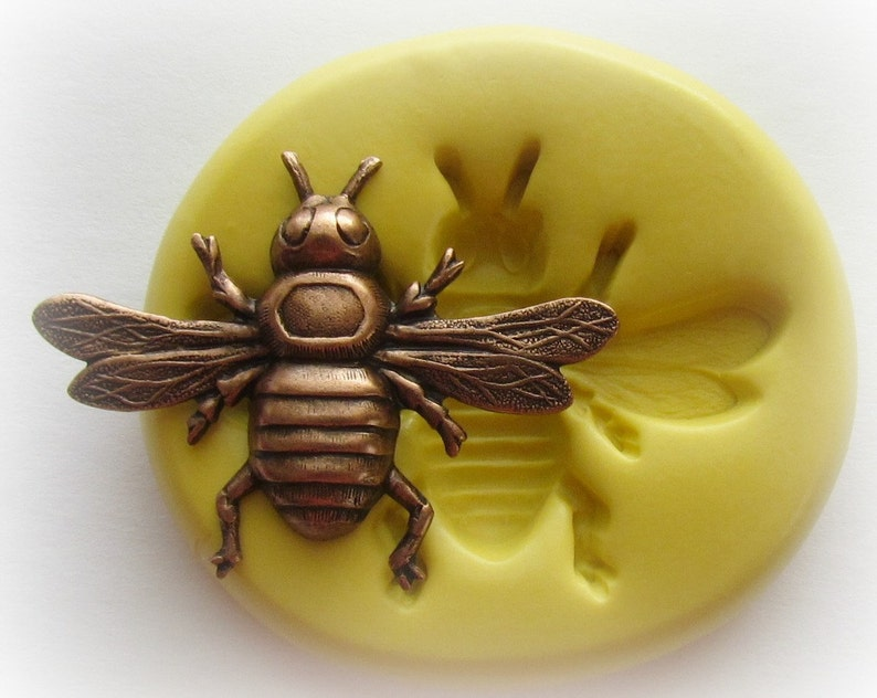 SIlicone Bug Mold Wasp Bee Moth Silicone Mold Fondant Candy image 0