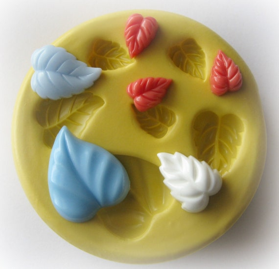 Leaves Leaf Mold Putty Mold Silicone Mold Resin Polymer Clay Fondant Moulds