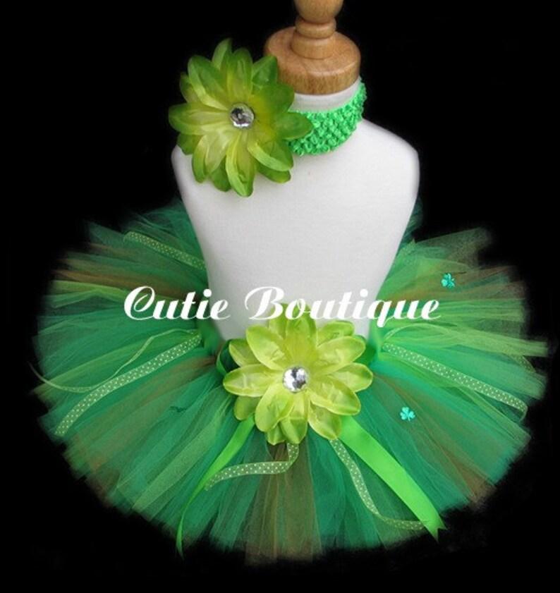 81c1e88b6573 Green Shamrock St Patrick s Day Tutu Headband Set All