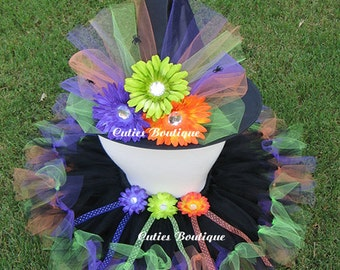 Halloween Rainbow Witch --All Sizes 6 9 12 18 24 Months 2T 3T 4T -- Birthday, Photo, Holidays, Dress Up, Halloween Costume
