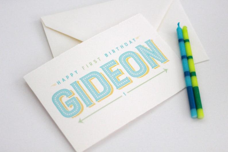 Custom Boy Birthday Card Personalized