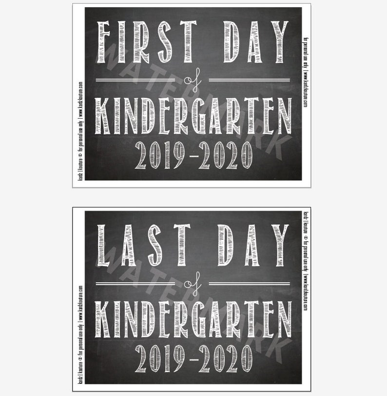 First Day & Last Day of Kindergarten  2019  2020 / image 0