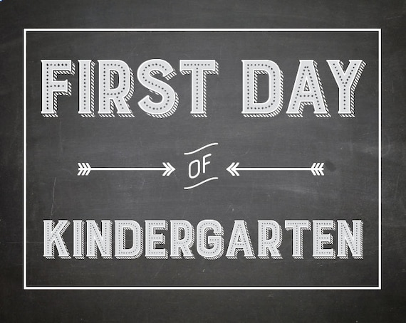 graphic relating to First Day of Kindergarten Printable referred to as Initial Working day of KINDERGARTEN Chalkboard Print / Sizing 8x10 / Immediate Obtain / Initially Working day of Kindergarten // kindergarten printable / Do it yourself