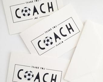 Thank You Coach Card // soccer coach card // thank you soccer card // soccer card // coaching card // thank you coach card //LARGE CARD