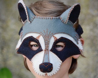 Raccoon Mask PDF Pattern