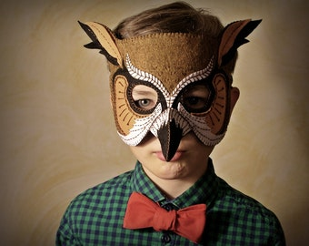 Owl Mask PDF Pattern