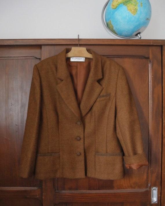 Vintage French Pure Wool Jacket Blazer