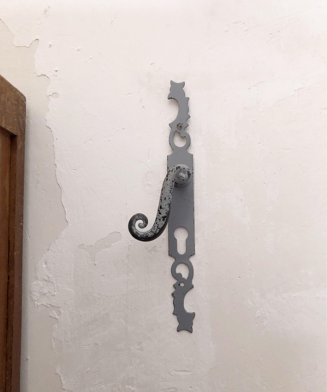 Vintage French Door Handle / Antique Door Decoration / Vintage Hardware /  Industrial Vintage