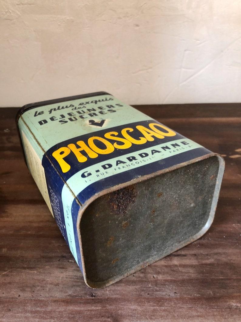 Vintage french Tin  Collectable Vintage Tin  retro tin  Vintage Tin Box  Vintage Trinket Box  Industrial Vintage Tin