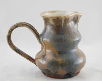 Prussian Crystalline Pitcher, Ceramic