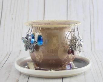 Earring Tree, Mocha Crystalline, Ceramic