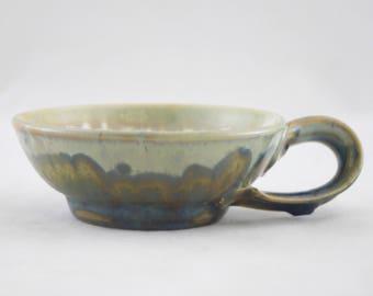 Cappuccino Mug, Dark Turquoise