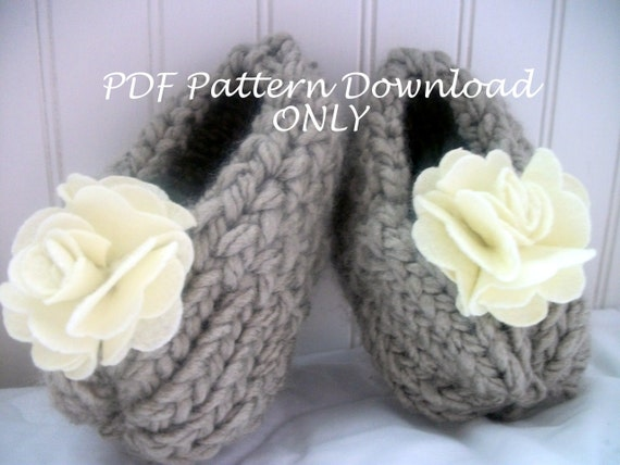 Loom Knit Shabby Chic Bootie Pattern Pdf Download Only Etsy