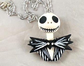 Jack Skellington Nightmare Before Christmas Inspired Necklace