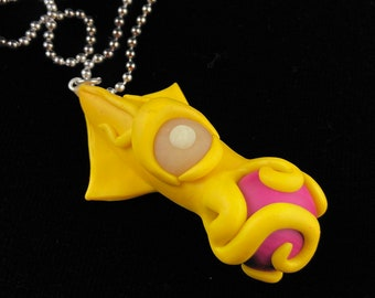 Yellow Cyclops Squid Necklace