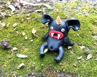 Beanard the Vampire Unicorn Goblin Bean Figurine