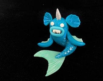Narwhal Mermaid Monster Figurine