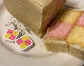 Battenburg Cake Earrings