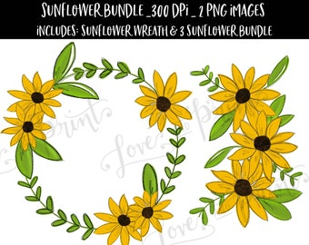 Flower Wreath Png Etsy