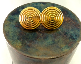 Golden circles earrings