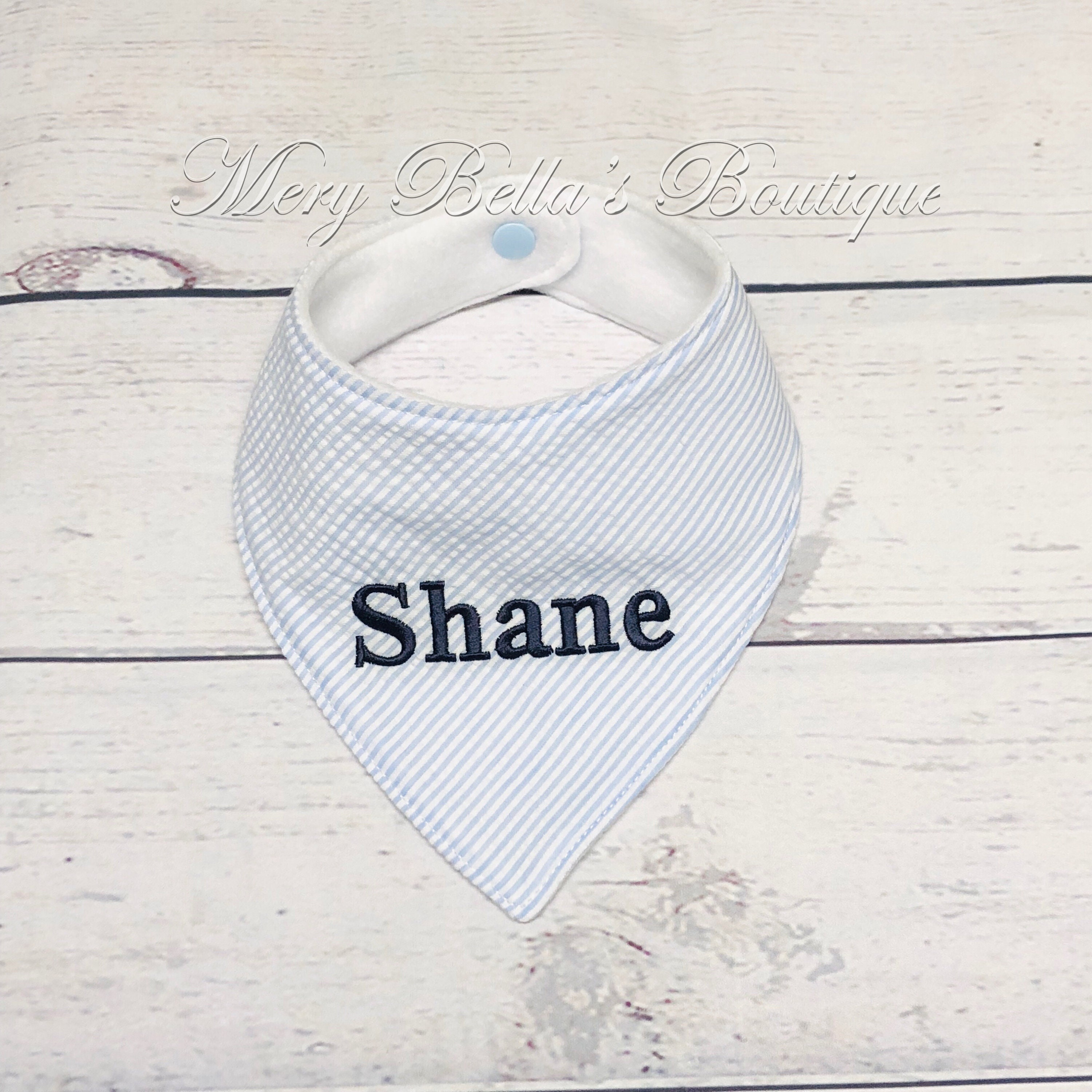 Personalised Baby Bib Embroidered New Baby// Twins// Christening//Name Day Gift