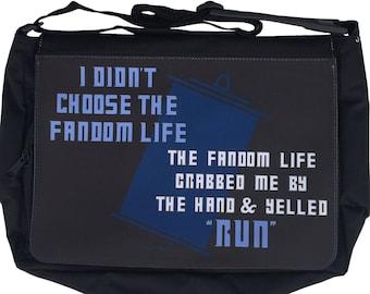 Doctor The Fandom Life Who Large Messenger/Laptop Bag