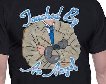 Supernatural Destiel Geek T-Shirt Touched By an Angel