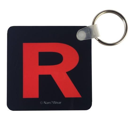 Team Rocket Pocket Monster Square Keychain 225 Team Etsy