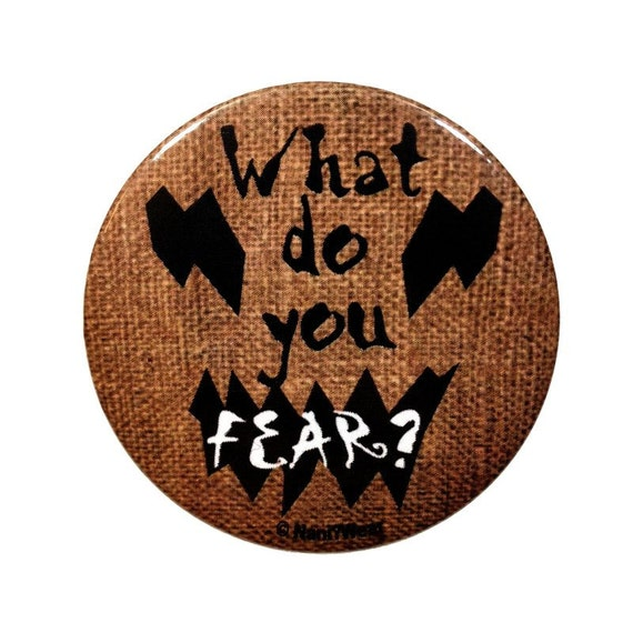 Batman Inspired Scarecrow 2inch Button What Do You Fear Etsy