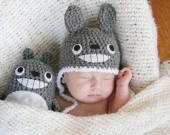Crochet Totoro Hat (Newborn) Made To Order
