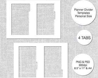 Divider Tab Template Etsy - Divider tabs template
