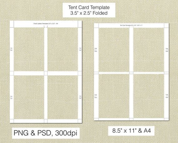 items similar to tent cards  3 5 x 2 5 inch folded  food
