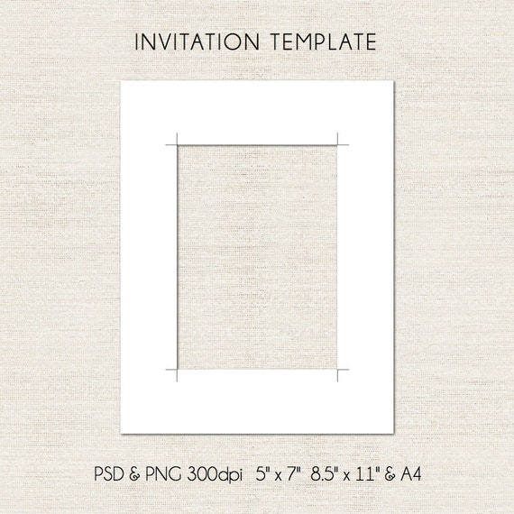 5x7 inch digital invitation template psd and png formats etsy