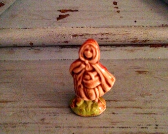 Adorable Porcelain Tiny Little Red Riding Hood