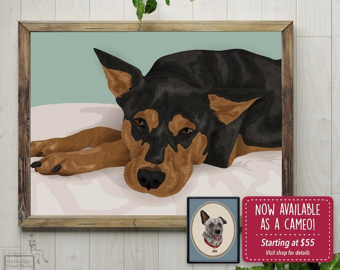 Custom Pet Portrait, Gift for Pet Lover, Memorial Portrait, Personalized Pet Print
