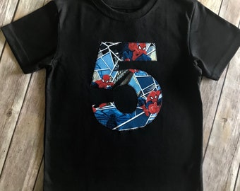 Boys Spider Man 5th Birthday Shirt 5T Superhero Gift Boy Top