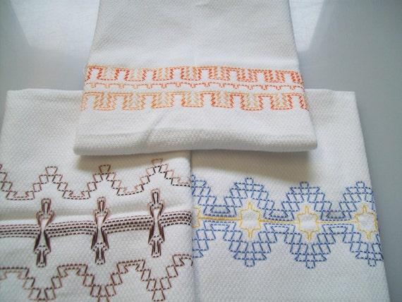 Swedish Weaving Huck Embroidery Pattern Border Set E Etsy