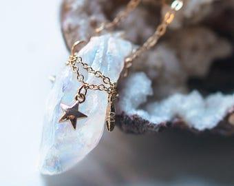 White raw quartz necklace, raw gemstone necklace rough stone jewelry titanium quartz point white quartz jewelry,inspirational Womens gift