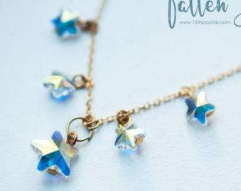 crystal stars choker, Swarovski stars necklace. celestial jewelry,romantic necklace,womens gift, girlfriend gift for women inspirational