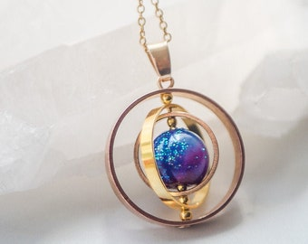 Galaxy necklace,  space necklace, science jewelry, Celestial jewelry,planet necklace, astronomy gift for her, space jewelry, Galaxy jewelry