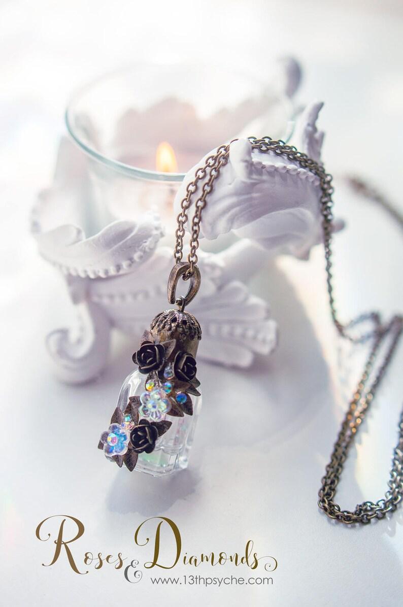 Perfume Bottle Pendant Necklace   Etsy