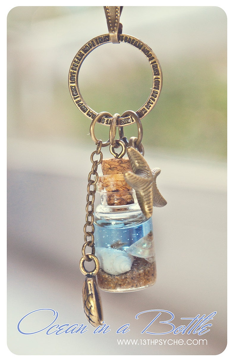 unique gifts for women,ocean inspired jewelry mermaid necklace nautical jewelry ocean necklace Ocean in a Bottle necklace,shell necklace