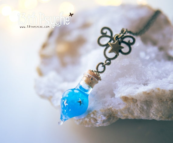 Justice glow in the dark potion pendant necklace