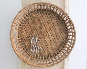 Vintage Decorative Woven Basket Bowl