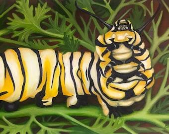 Hungry Caterpillar Painting