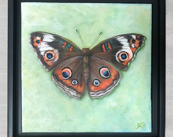 SOLD!  Let me create one for you. Buckeye Butterfly, Framed Art